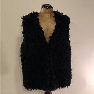 Vera Wang faux Fur vest